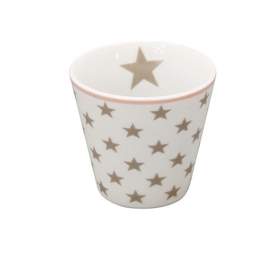 Espresso Tasse | Happy Mugs | Star taupe white