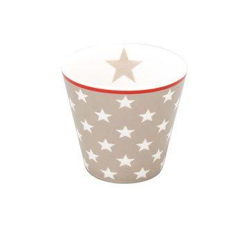 Krasilnikoff Espresso Tasse | Happy Mugs | Taupe Star