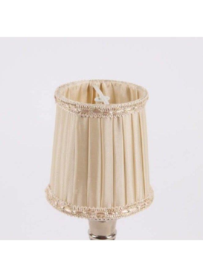Lampenschirm | für Kronleuchter | D 8 cm | Warm Weiss