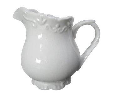 Chic Antique Milchkännchen | Provence | Porzellan Weiss