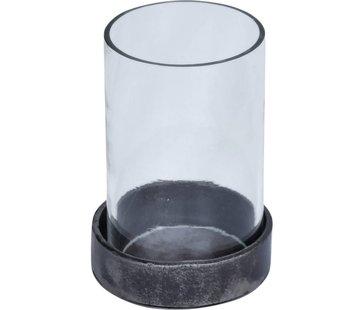Industrie Teelichthalter | Eisen | Glas