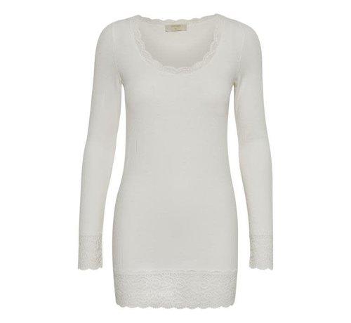 Cream Clothing Shirt | Vanessa L/S T-shirt | Chalk