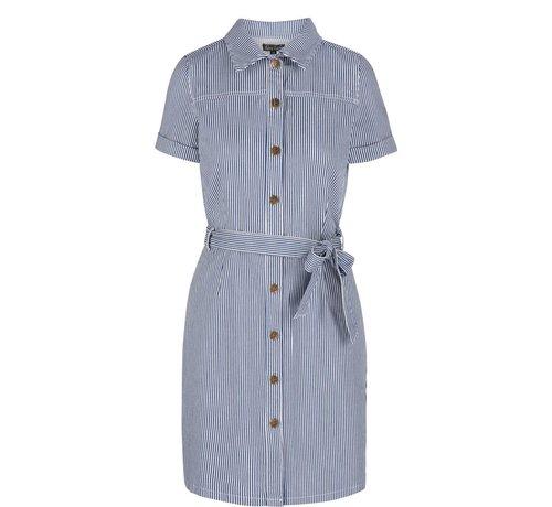 King Louie Kleid | Norma Dress Americana Stripe | Palace Blue