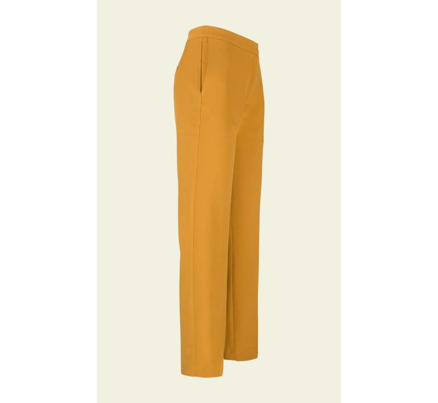 Hose | Luz Pants Heavy Polyester Crepe | Honey Yellow