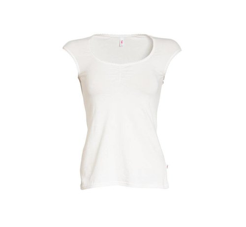 Blutsgeschwister Top | logo top | white sparkling spume