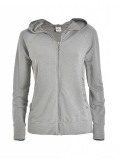 DEHA Sweatshirt | HOODED FULL ZIP JACKET |  PEARL GRAY