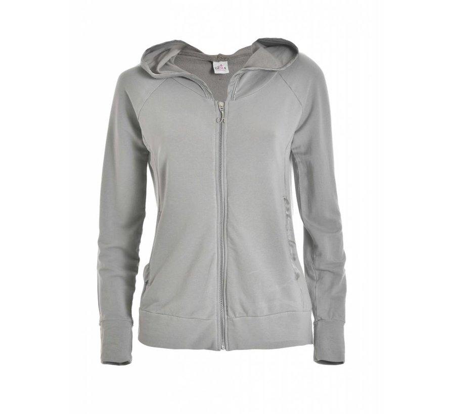 Sweatshirt | HOODED FULL ZIP JACKET |  PEARL GRAY