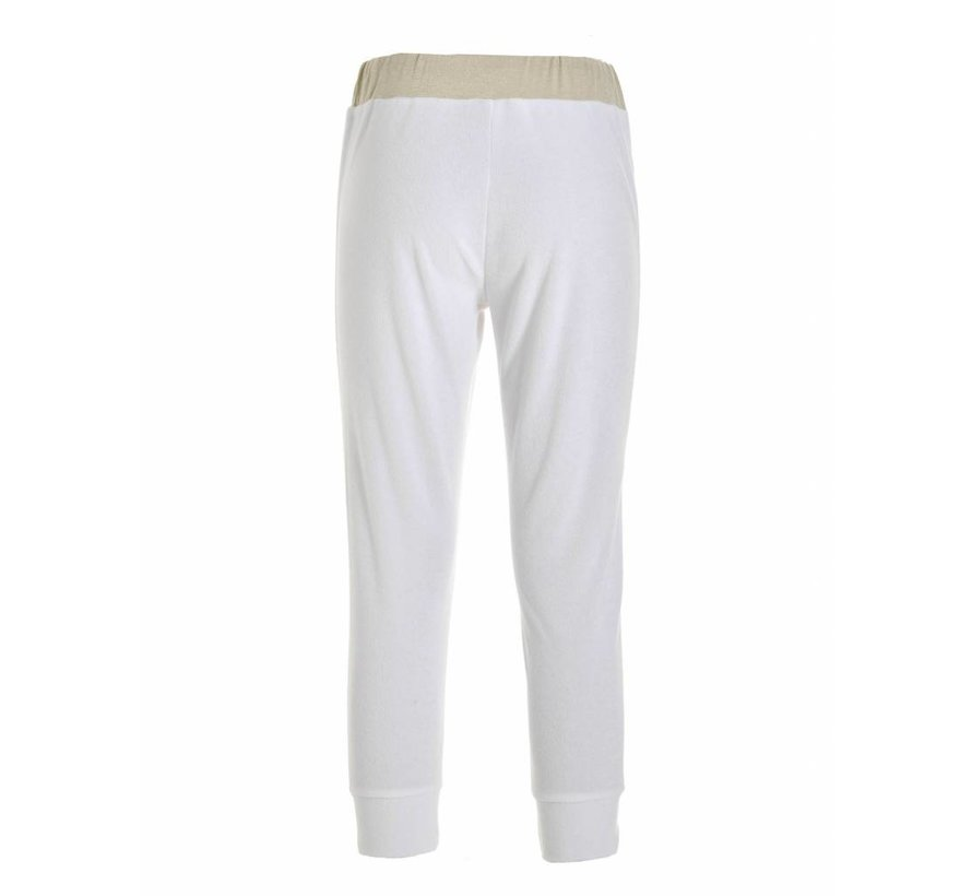 Hose | FRENCH TERRY CROPPED PANTS | WHITE