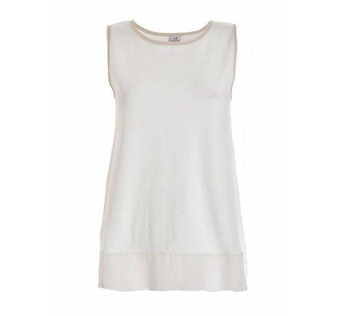 DEHA Shirt | SLEEVELESS SWEATER | WHITE