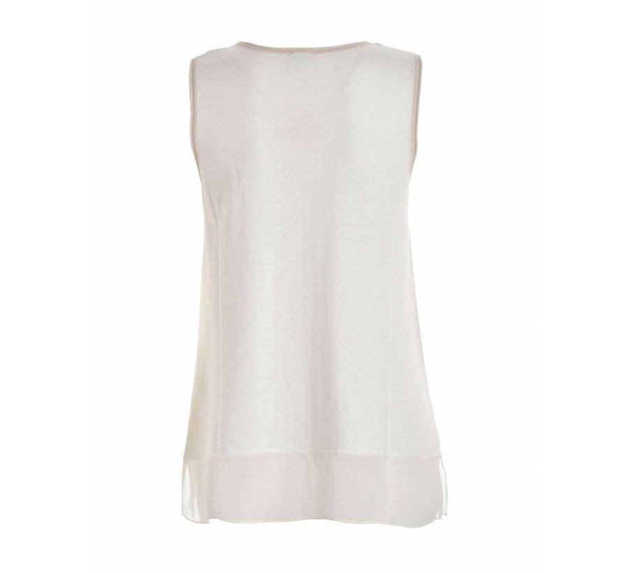 Shirt | SLEEVELESS SWEATER | WHITE