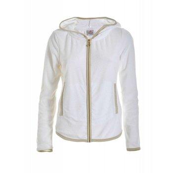 DEHA Sweatshirt | FULL ZIP HOODIE | WHITE