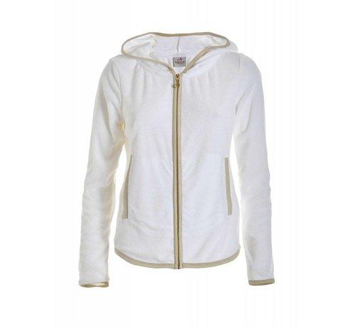 DEHA Sweatshirt   FULL ZIP HOODIE   WHITE