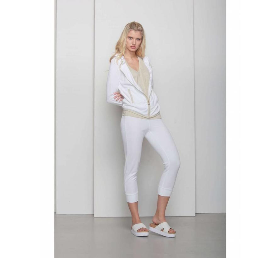 Sweatshirt   FULL ZIP HOODIE   WHITE