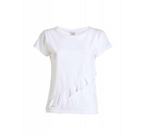 DEHA Shirt | RUFFLE T-SHIRT | WHITE