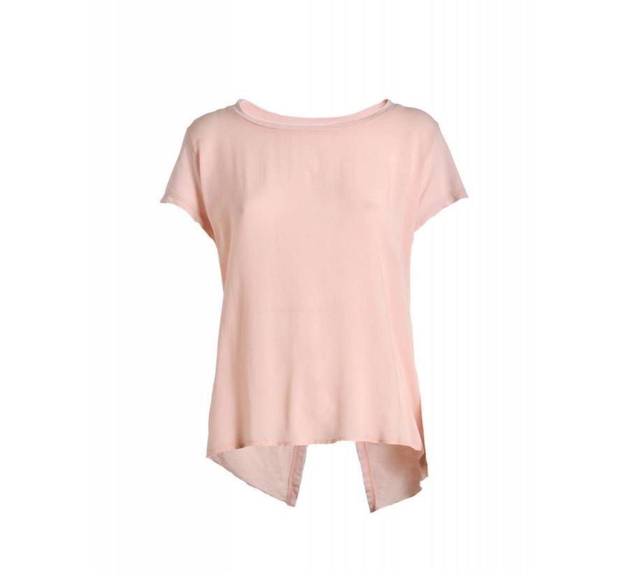 Shirt | VISCOSE AND FLEECE T-SHIRT | ROSA