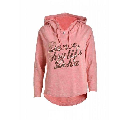 DEHA Sweatshirt | EMBELLISHED HOODIE | CORAL
