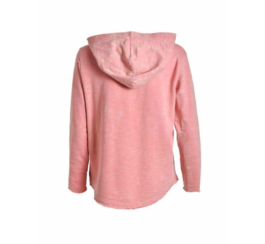 Sweatshirt | EMBELLISHED HOODIE | CORAL