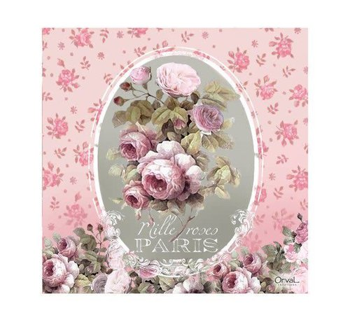 Servietten | Mille Roses à Paris | Rosa