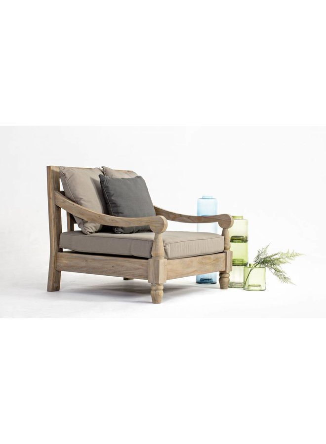 Lounge Sessel Bali - Outdoor Gartensessel aus Teakholz FSC