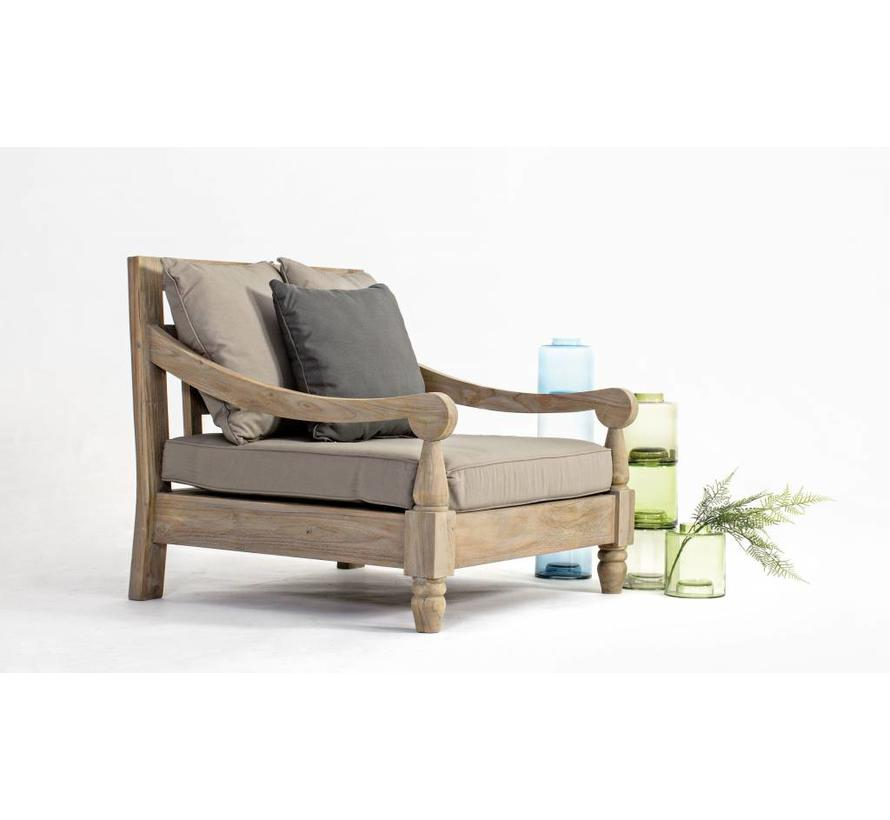 Lounge Sessel Bali Outdoor Gartensessel Teak Holz Fsc Enchante