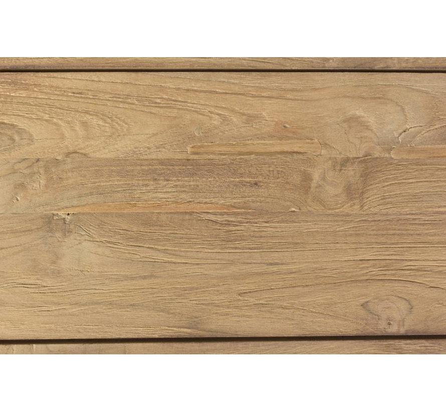 Gartentisch Mendoza   Holztisch 220x110cm   Teak Holz FSC lakiert