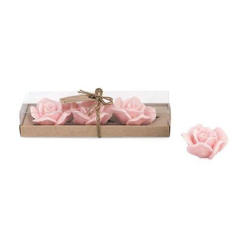 Kerze Rose | 3er Geschenkset | Rosa