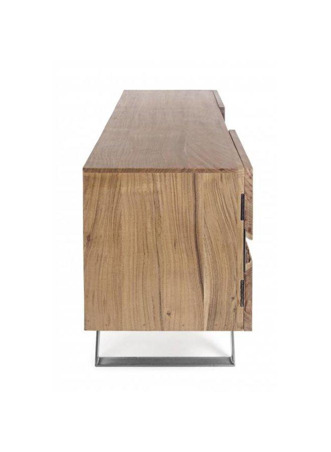 TV-Möbel Aron aus Massivholz - 160x44x65 cm