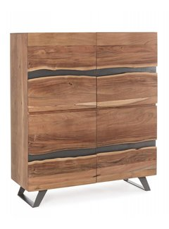 Sideboard Hoch Aron | Massivholz | 118x45x138 cm