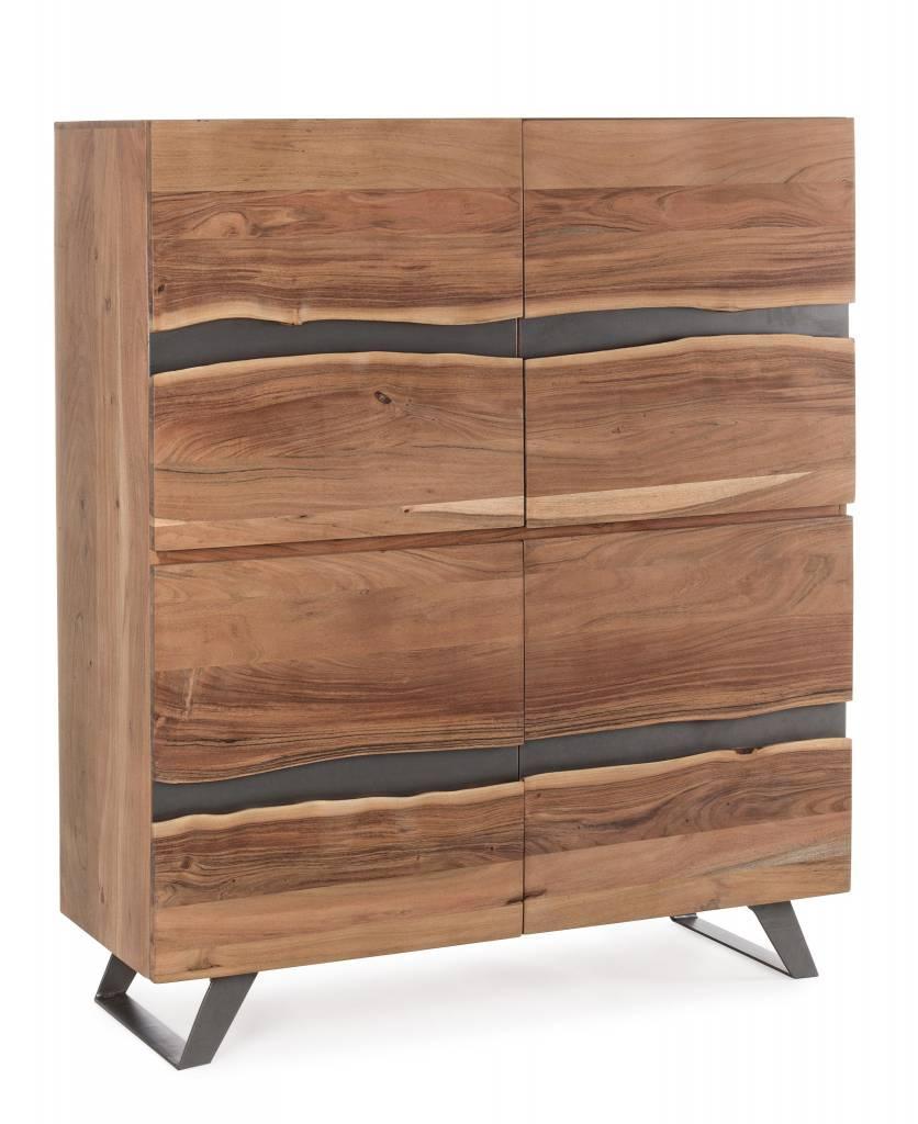 Sideboard Hoch Aron Massivholz 118x45x138 Cm Enchante