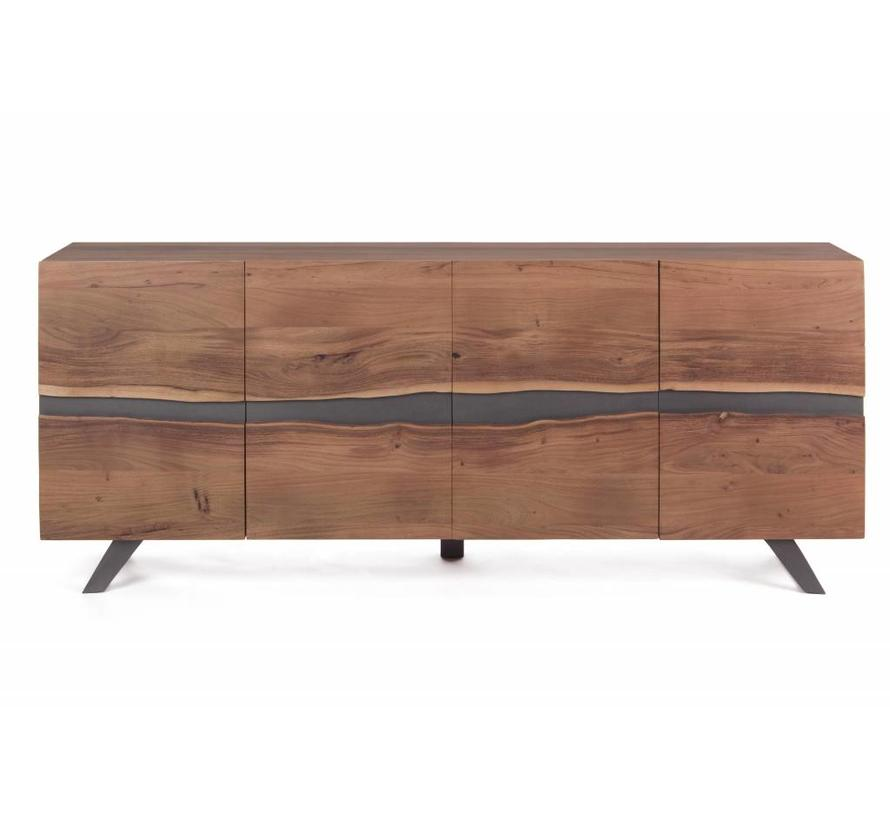 Sideboard Tief Aron | Massivholz | 198x43x85 cm