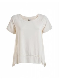 DEHA Shirt | SHORT SLEEVE SWEATSHIRT | CREME
