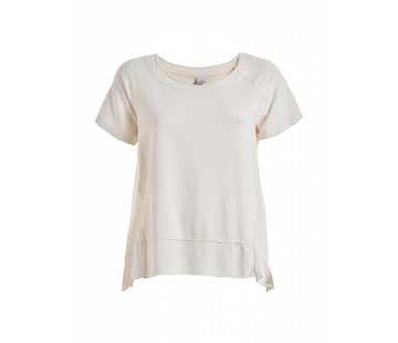DEHA Shirt | SHORT SLEEVE SWEATSHIRT | CREME