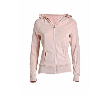 DEHA Sweatshirt   FULL ZIP HOODED SWEATSHIRT   SOFT ROSE