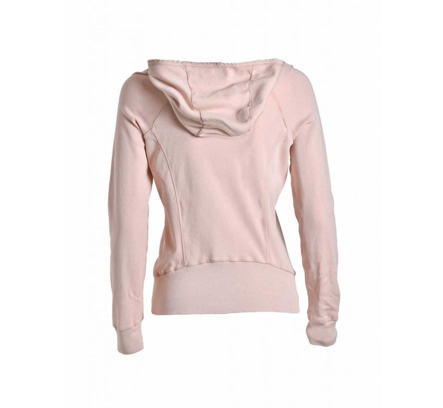 Sweatshirt | FULL ZIP HOODED SWEATSHIRT | SOFT ROSE