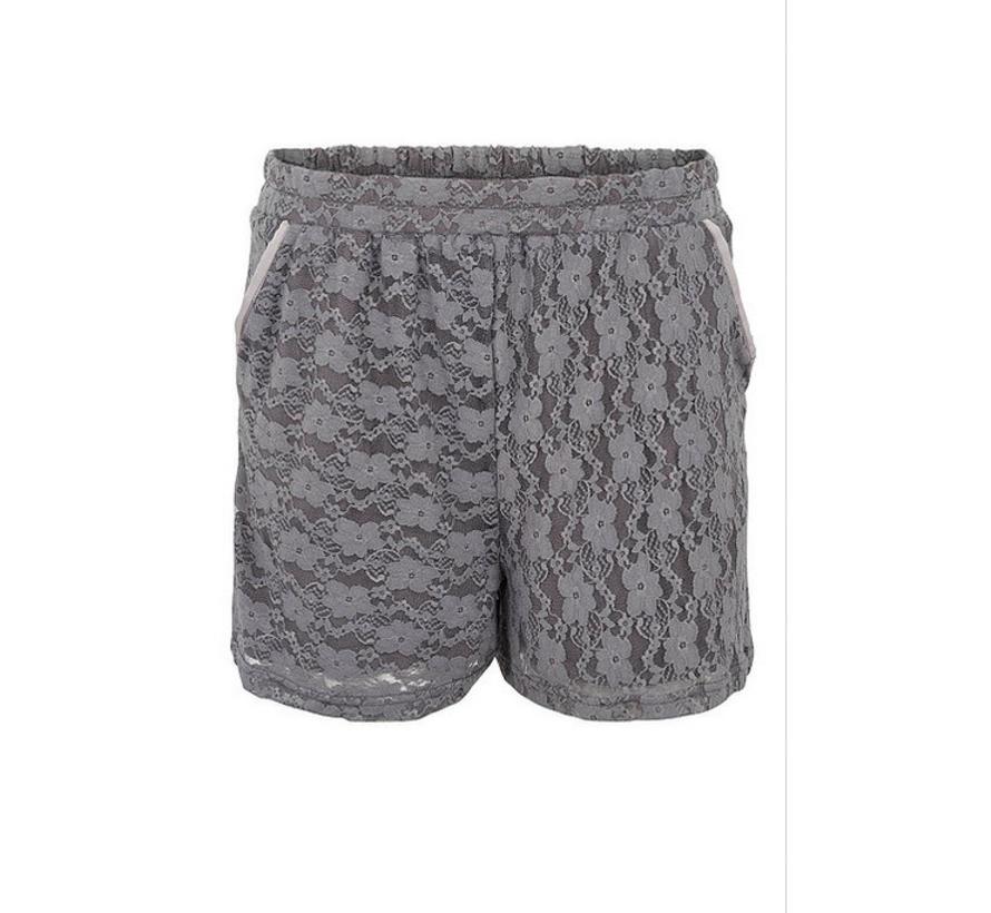 Shorts mit Spitze | Iron grey | Grau
