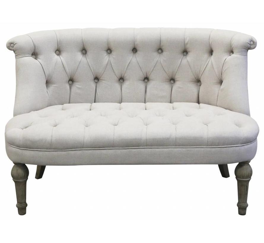 Chic Antique Französisches Sofa Leinen 2 Sitzer Enchanté