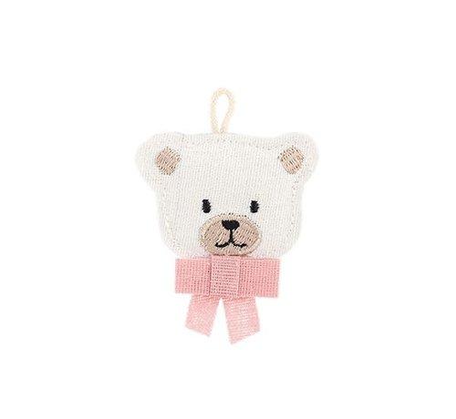 Dekoanhänger Teddy | Stoff Rosa