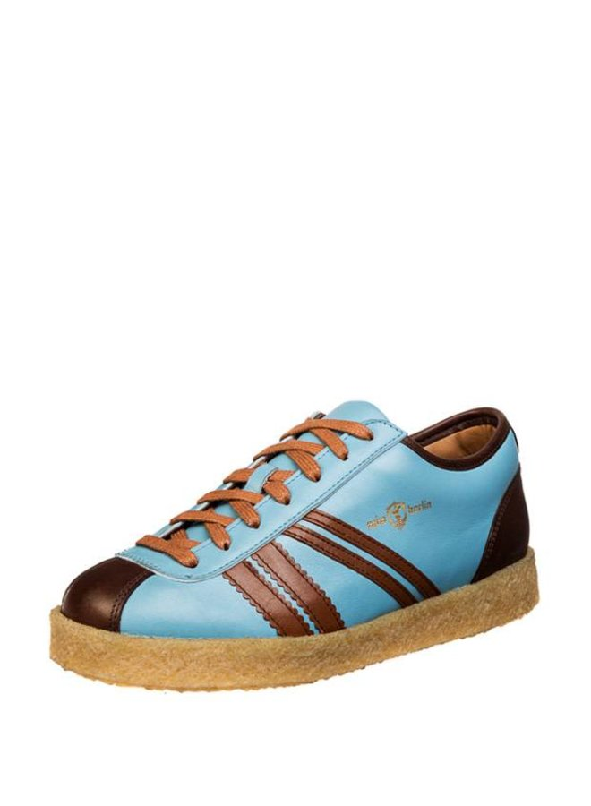 Trainer Low in Sky blue, brown