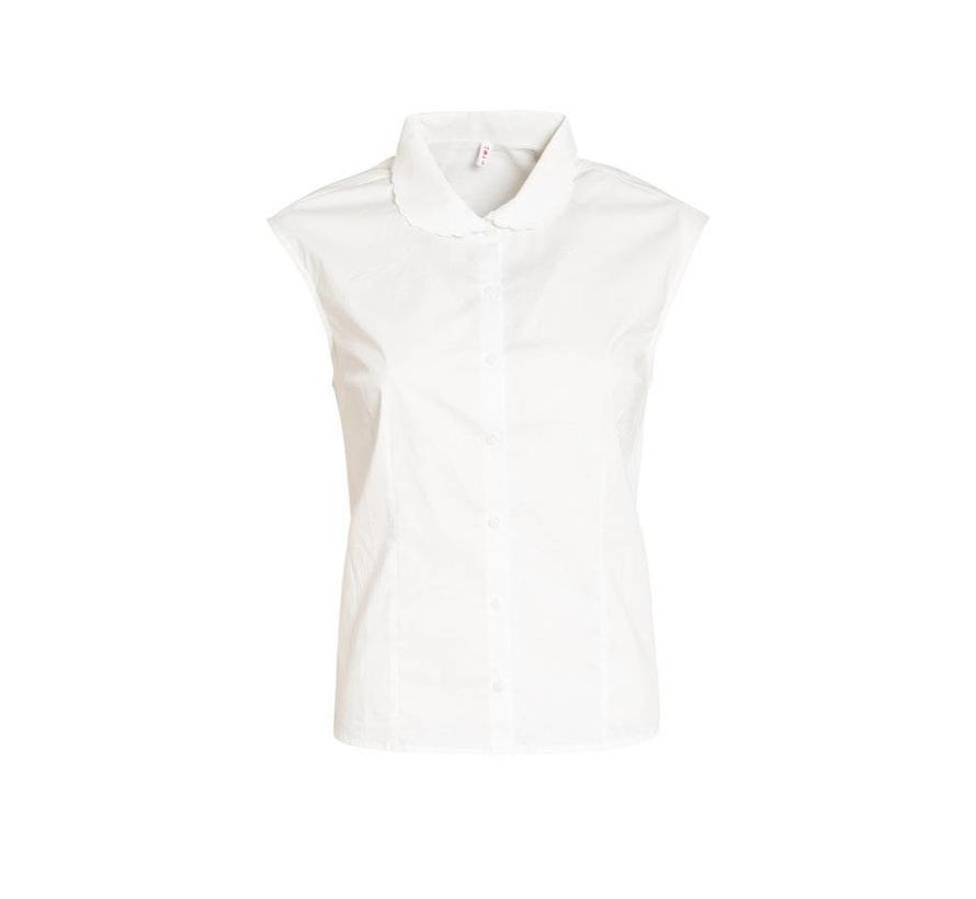 Bluse | tender slenderness blousette | fresh white