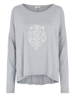 Tina Wodstrup Langarmshirt | Blouse with print | Ocean