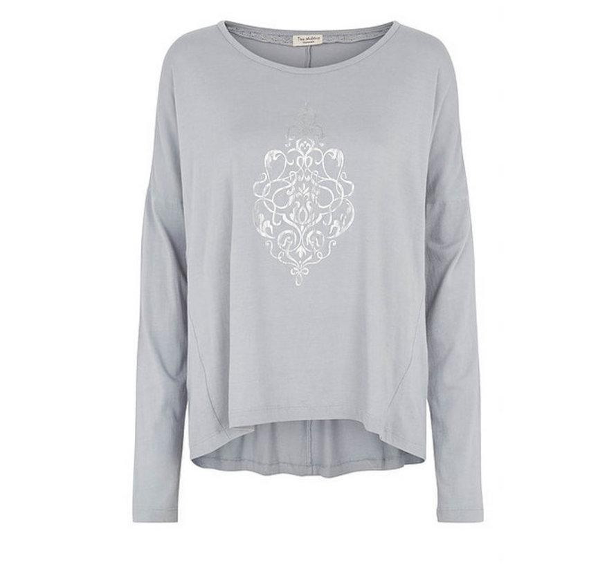 Langarmshirt | Blouse with print | Ocean