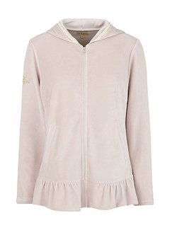 Tina Wodstrup Sweater | Jacket with Frill | Purple Velvet