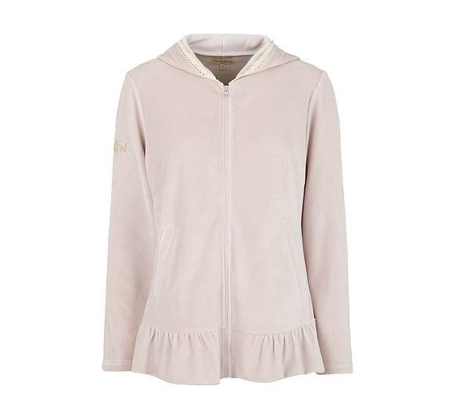 Sweater | Jacket with Frill | Purple Velvet