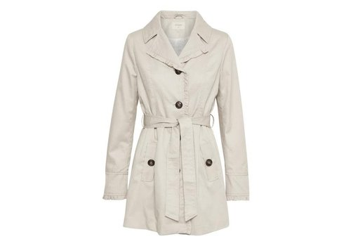 Cream Clothing Mantel | Noa Trenchcoat | Silver Gray