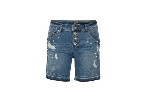Cream Clothing Hosen | Pearl shorts - bailey fit | Medium blue denim