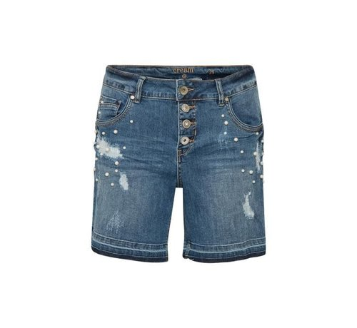 Cream Clothing Hosen | Lea shorts - bailey fit | Medium blue denim
