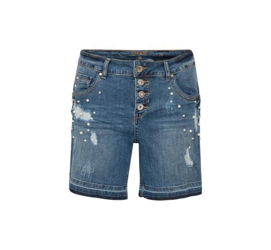 Hosen | Lea shorts - bailey fit | Medium blue denim