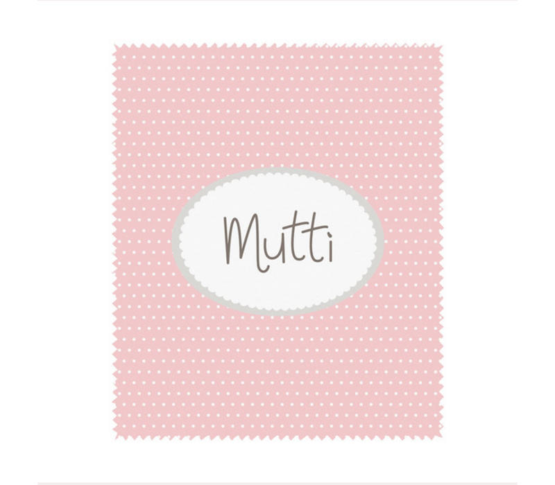 Brillenputztuch | Mutti | Rosa