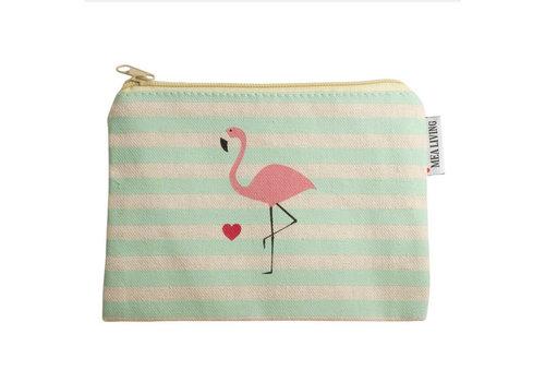 Mea Living Kleine Kosmetiktasche | Flamingo Stripes