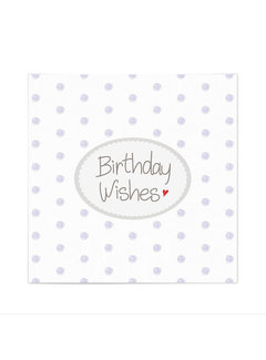Mea Living Servietten | Birthday Wishes | Weiss-Lila
